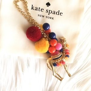 Colorful kate spade camel long necklace